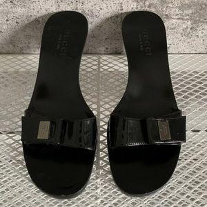 Gucci Wooden Mules Sandals Heels Black ❤️